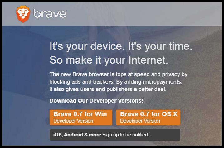 Brave browser site download