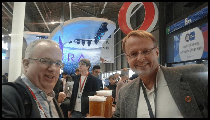 Brendan Eich and Hakon Wium Lie MWC 2016