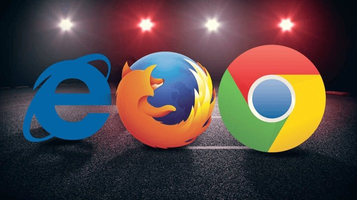 Logos Edge Firefox Chrome browsers