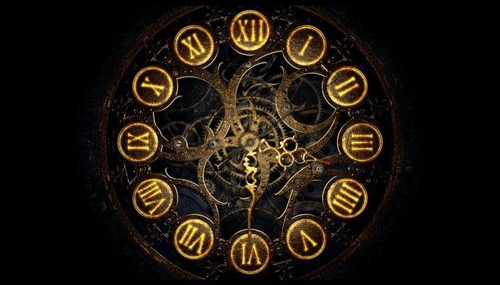 Заставка механические часы
