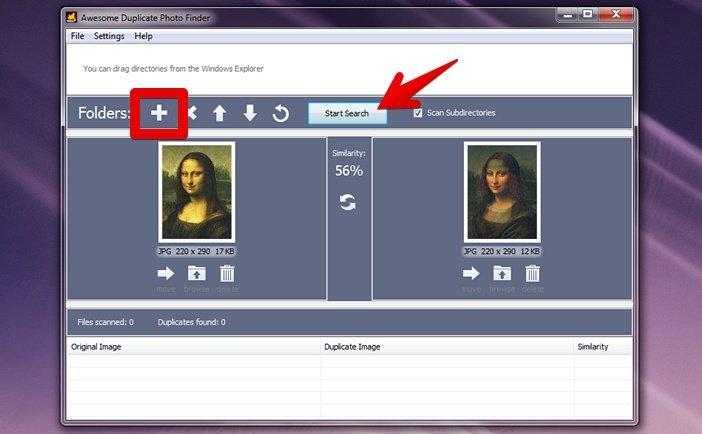Программа Awesome Duplicate Photo Finder