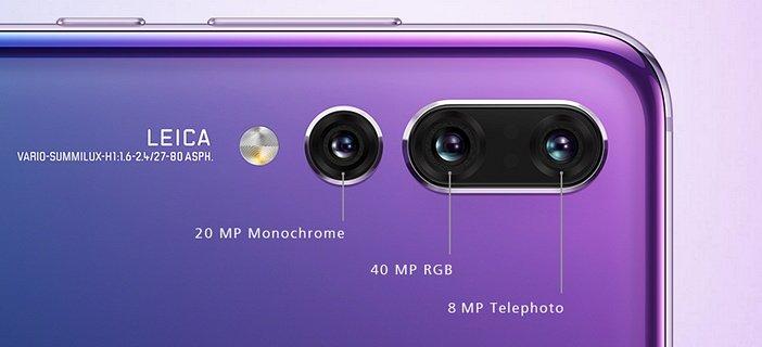 Характеристики тройной камеры Huawei P20 Pro