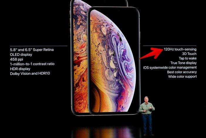 iPhone Xs дисплей 120 Гц
