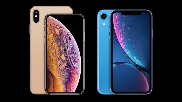 iPhone Xs и iPhone Xr рамки вокруг дисплея