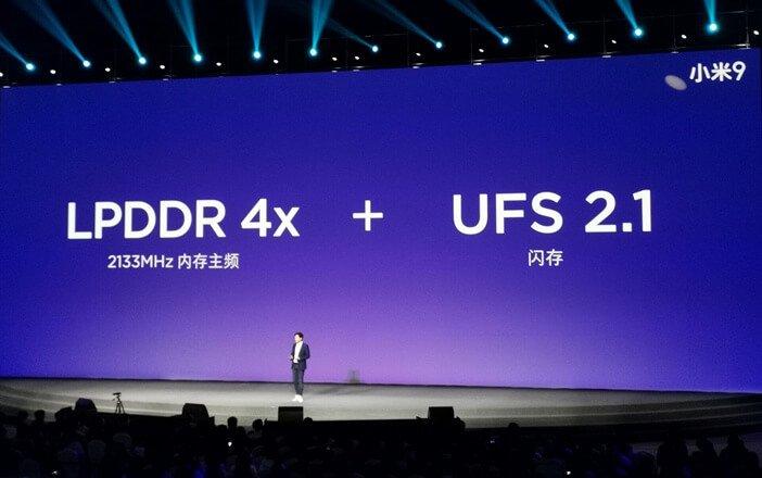 Xiaomi Mi 9 тип оперативной и постоянной памяти