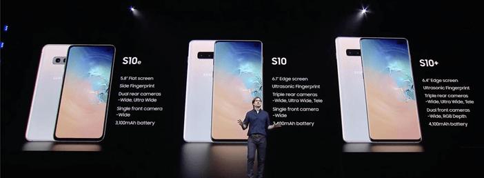 Отличия Galaxy S10e, S10 и S10+