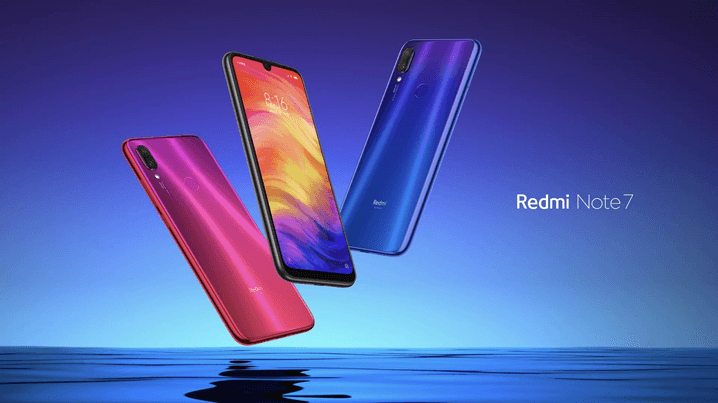 Redmi Note 7 Blue and Rose Color