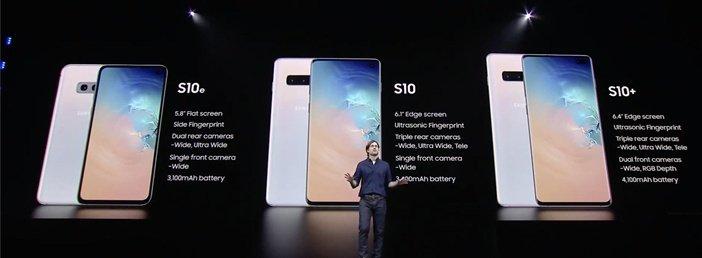 Презентация линейки смартфонов Galaxy S10