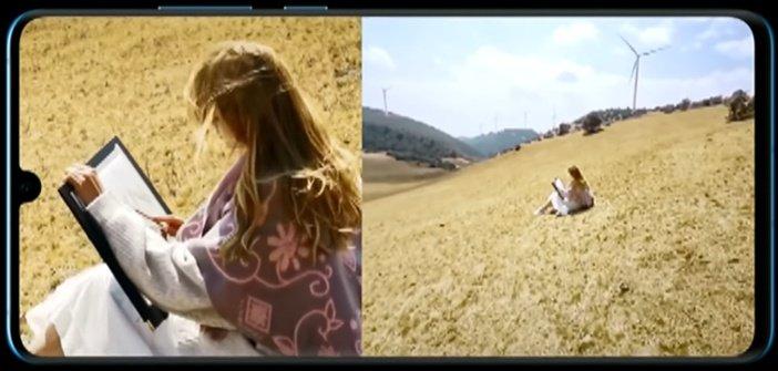 Двойная съёмка видео в P30