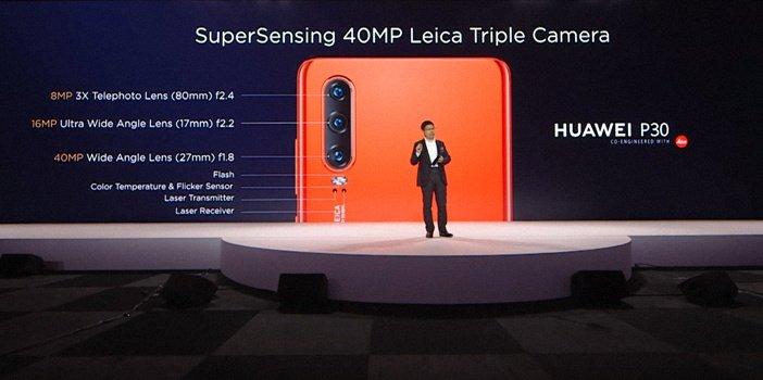 Камеры Huawei P30 с подписями