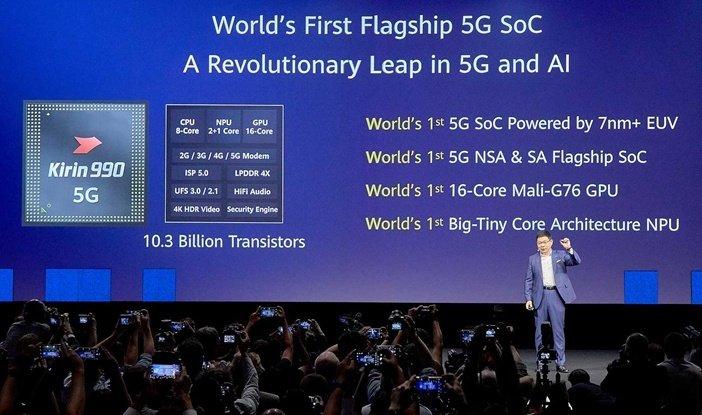 Характеристики китайского процессора Kirin 990 5G для самых мощных смартфонов Huawei