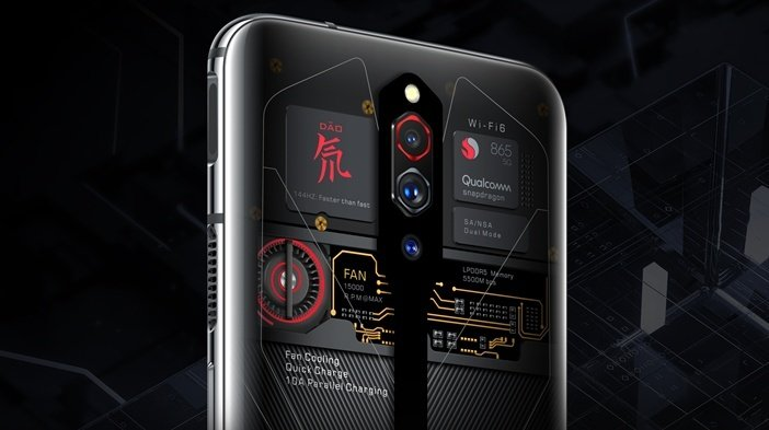 Вентилятор в смартфоне Nubia Red Magic 5G помогает для эффективного охлаждения процессора