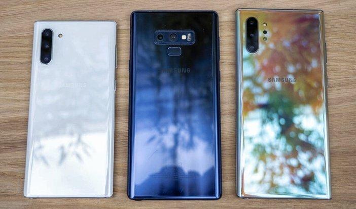 Отличия тыльных сторон Note 9 и Note 10