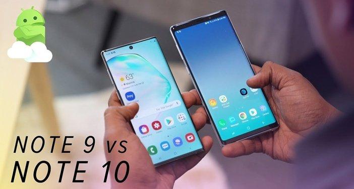 Note 10 и Note 9 бок о бок отличия