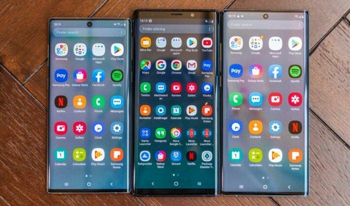 Экраны Note 10, Note 9, Note 10+ сравнение размеров