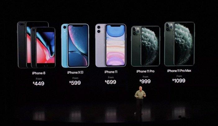 Официальные цены на актуальные модели iPhone в долларах