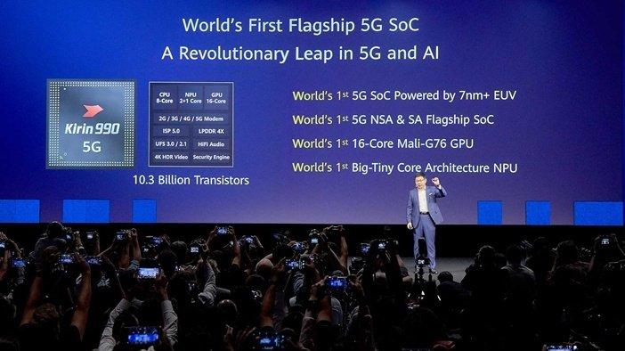 Китайский процессор Kirin 990 5G впервые обгоняет всех конкурентов по числу транзисторов