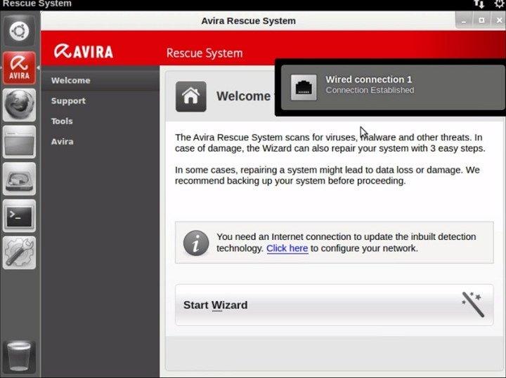 загрузочный диск Avira Rescue System