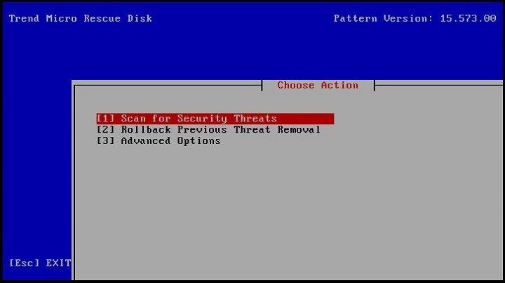 запускает процедуру проверки на вирусы
