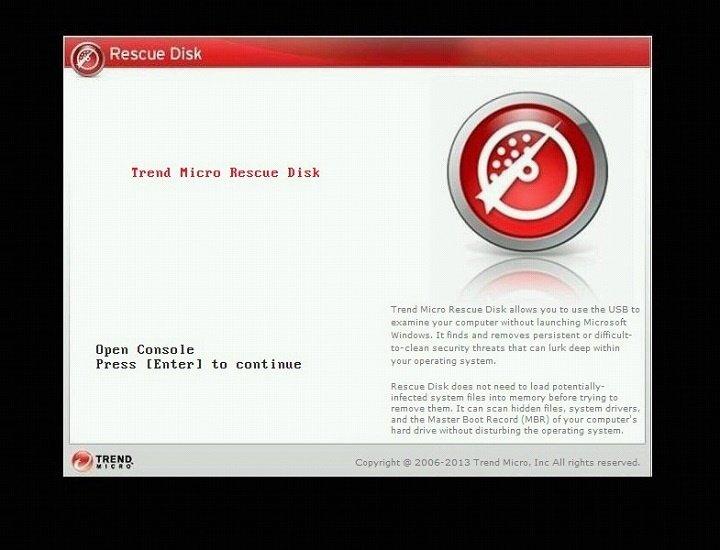 загрузка Trend Micro Rescue Disk