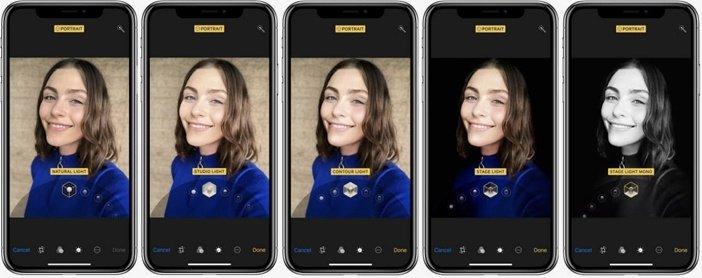 Световые эффекты портретного освещения для камеры iPhone