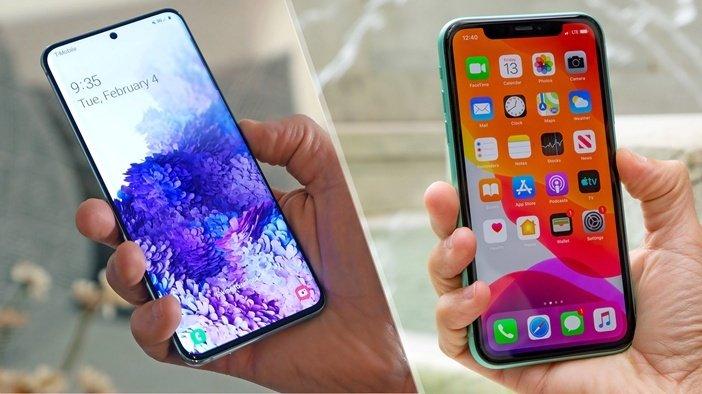 Galaxy S20 рядом с iPhone 11