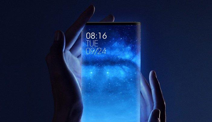 Mi Mix Alpha - смартфон с дисплеем на задней стороне