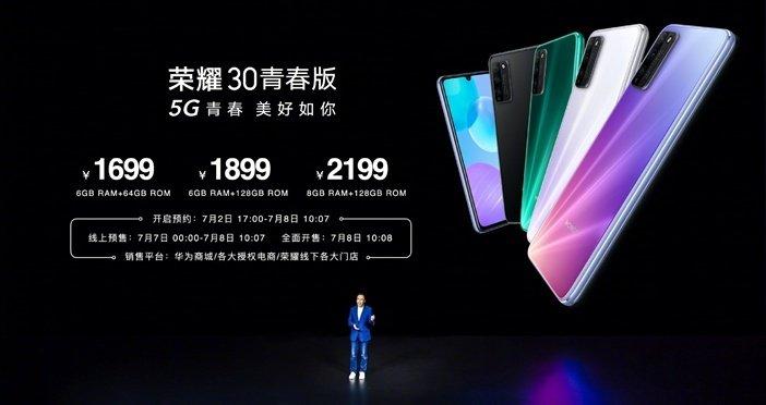 Китайские цены на смартфон Honor 30 Lite
