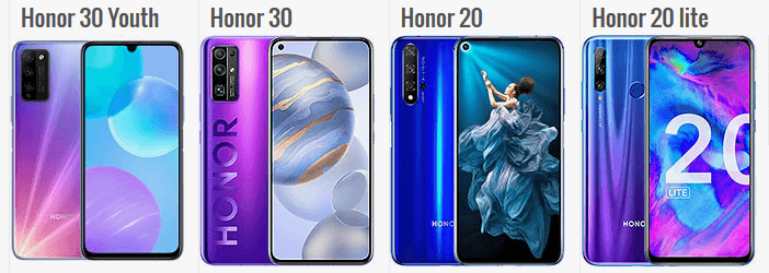 Отличия Honor 30 Lite, 30, 20 и 20 Lite