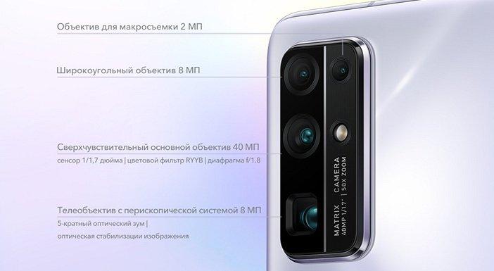 Характеристики камер Honor 30