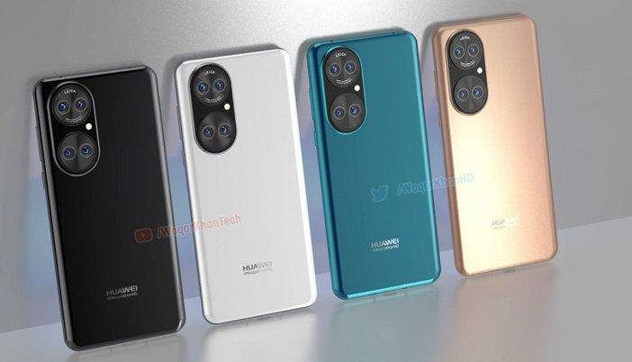 Внешний вид будущих флагманов Huawei P50