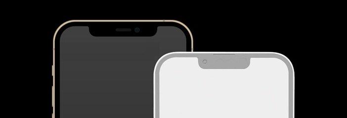 Уменьшенная чёлка монобровь в iPhone 2021