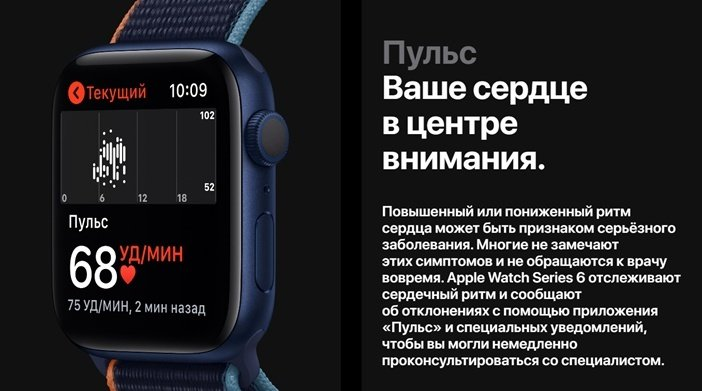 Измерение пульса в Apple Watch