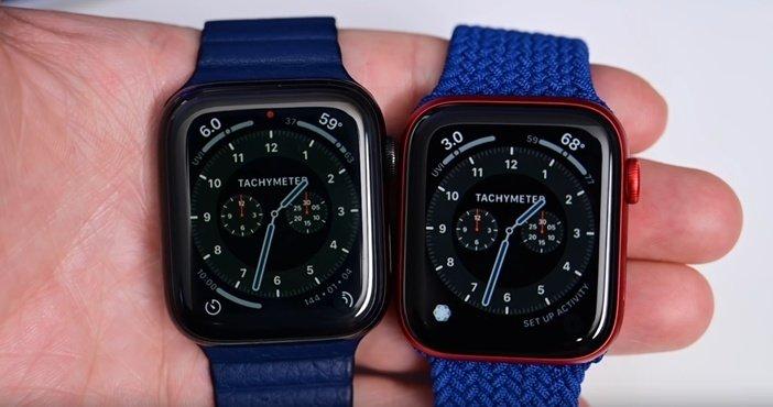 Сравнение Apple Watch 5 и Watch 6