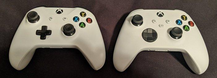 Геймпад One S и One X рядом с контроллером Series S