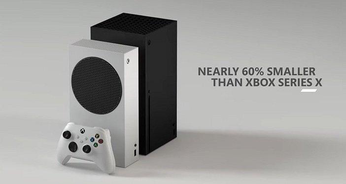 Размеры Series S на фоне Xbox Series X