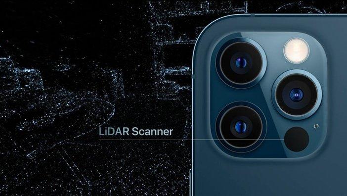 Расположение LiDAR в iPhone 12 Pro и 12 Pro Max