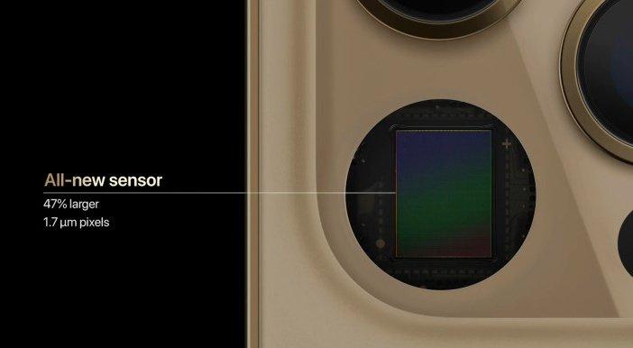 Новый сенсор основной камеры iPhone 12 Pro Max