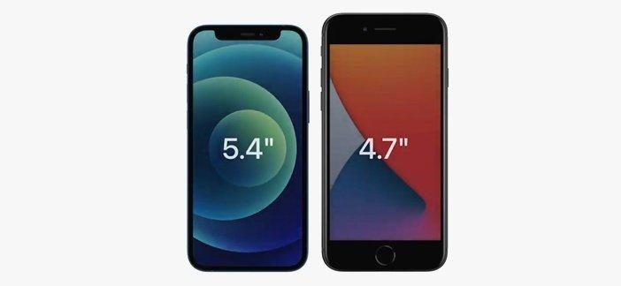 Сравнение габаритов iPhone 12 mini и iPhone 7