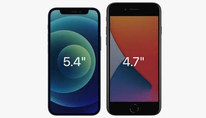 iPhone 12 mini заметно компактнее, чем iPhone SE