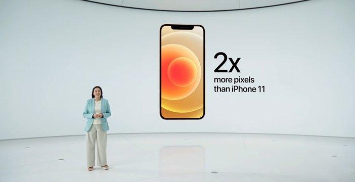 Детализация дисплея iPhone 12