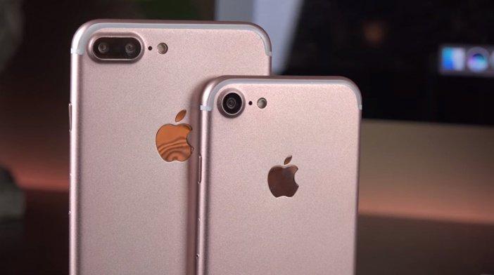 Задние стороны корпуса iPhone 7 и 7 Plus в отличие от iPhone 12 не имеют стекла