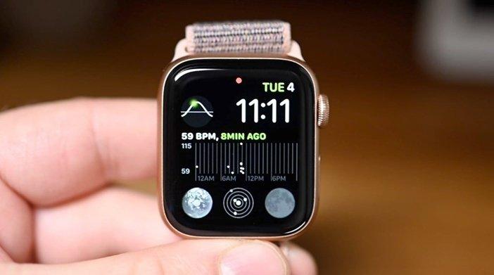 Дисплей и виджеты Apple Watch 6