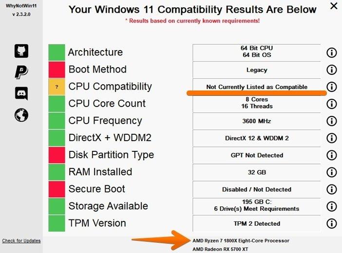 Проверка компьютера для Windows 11