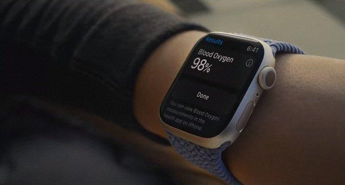 Измерение кислорода в крови на экране Watch 7