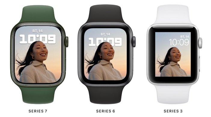 Дисплей Watch 7 лучше, чем Watch 6 и 3