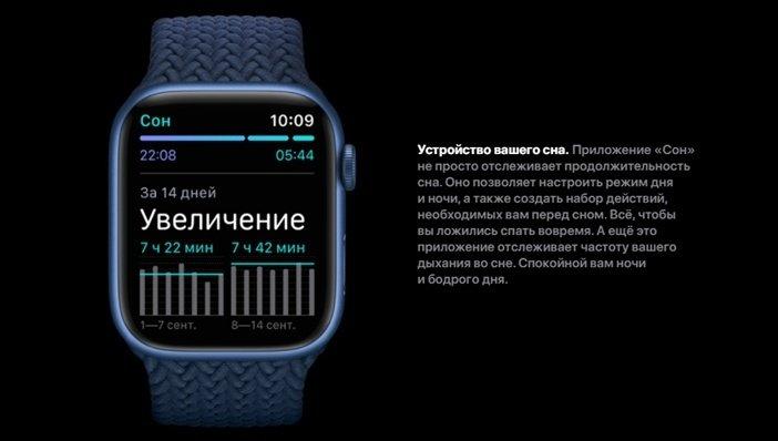 Анализ сна в Apple Watch 7