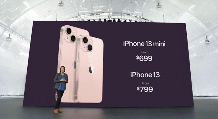 Тыльная сторона iPhone 13 и 13 mini