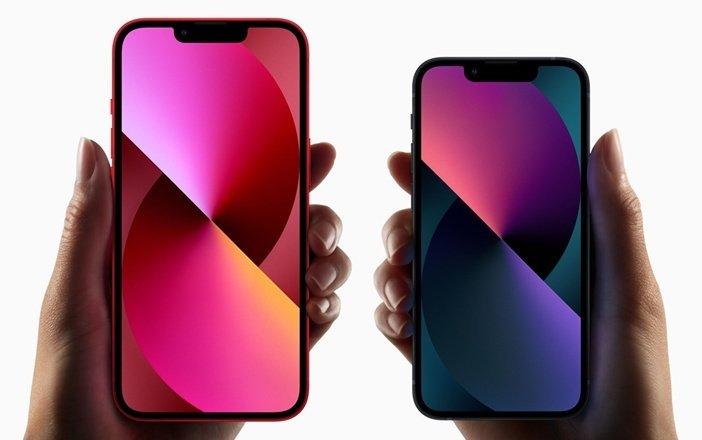 Экраны iPhone 13 и iPhone 13 mini